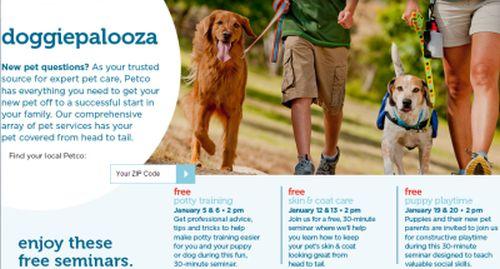 Petco Doggiepalooza Free Seminars for Dog Training