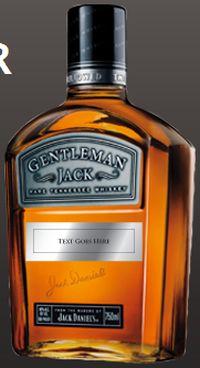 Gentleman Jack Free Personalized Liquor Labels via Facebook