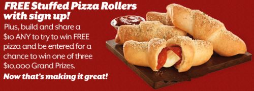 whatsyourany.com Pizza Hut What's Your Any Free Stuffed Pizza Rollers and Win Pizza