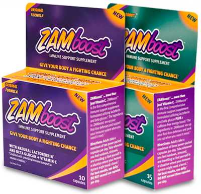 ZAMboost Immune Support Supplement Free Sample of the Original or + Energy Boost Formula - US