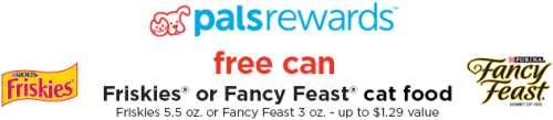 Petco Free Printable Coupon for Free Can of Friskies or Fancy Feast Cat Food - Exp. December 15, 2013