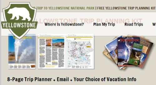 Yellowstone Park Free Trip Planning Kit - US