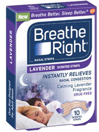 Breathe Right Two Free Breathe Right Strips: Lavender or Extra Strength Clear - US