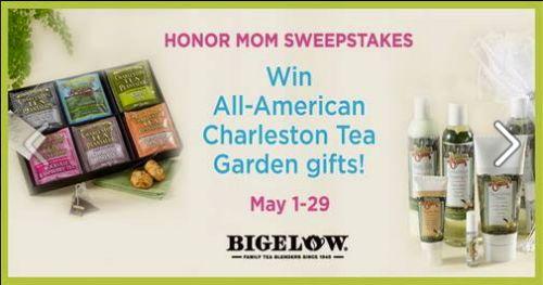 Bigelow Tea Win All-American Charleston Tea Garden Gifts Contest via Facebook - May 1 - 29, 2015