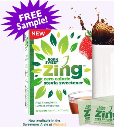 Zing Stevia Sweetener via Walmart Free Samples – US