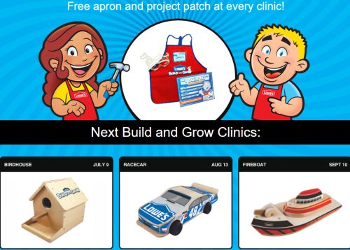 Lowe's Build and Grow Clinics for Kids