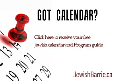 Chabad Jewish Centre of Barrie Calendar