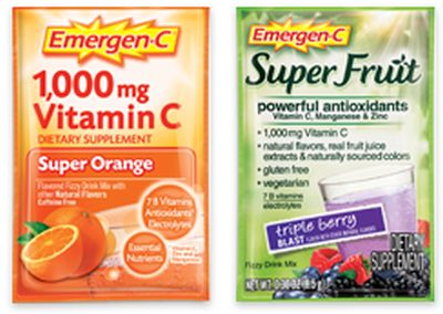 Emergen-C Original and Super Fruit Vitamin Supplement