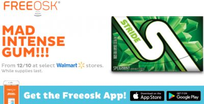 Freeosk Free Stride Gum Sample at Walmart - US