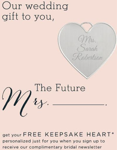 Things Remembered Free Personalized Keepsake Heart