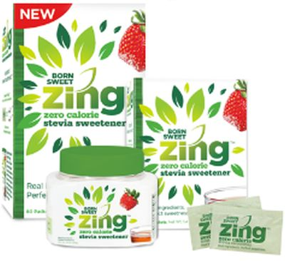 Zing Free Born Sweet Zing Stevia Sample and $1.50 Coupon