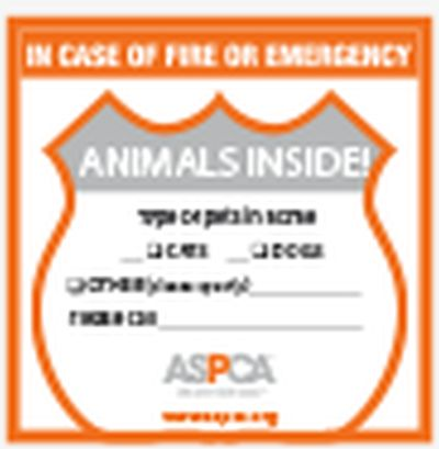 ASPCA Free Animals Inside Alert Sticker - US