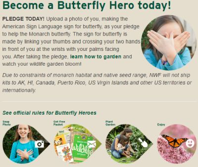 National Wildlife Federation's Butterfly Heroes Free Butterfly Garden Starter Kit - US