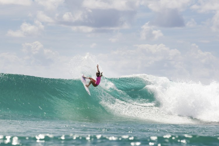 GOLD COAST, QUEENSLAND - MARCH 04: Coco Ho of Hawaii was eliminated from the Roxy Pro Gold Coast after placing second in Round 2 at Snapper Rocks on March 4, 2014 in Gold Coast, Australia. (Photo by Kelly Cestari/ASP via Getty Images)