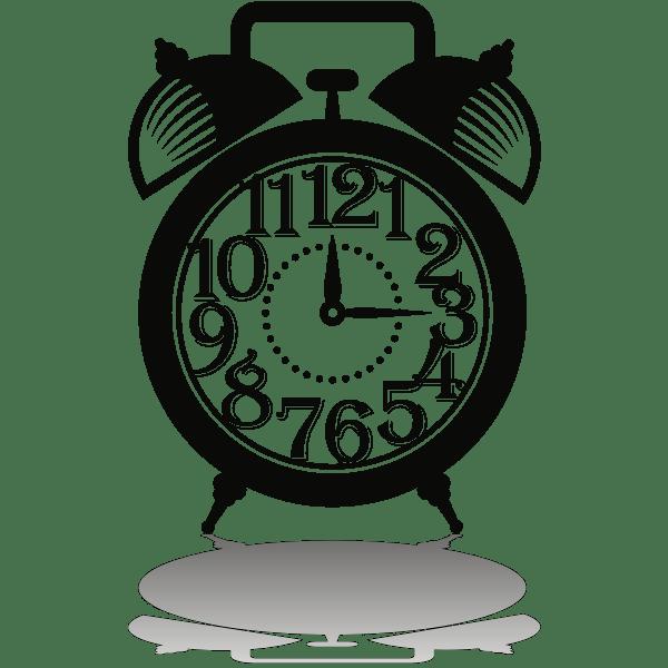Old Style Alarm Clock Free Svg