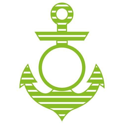Stripe Anchor Monogram Frame SVG