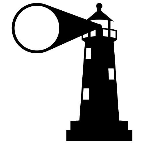 Lighthouse Monogram Frame SVG