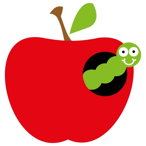 Apple Worm SVG