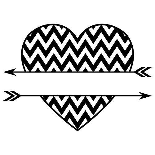 Chevron Split Love Heart Arrows SVG