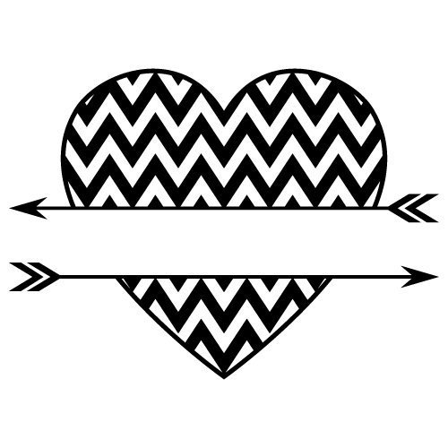 Download Free SVG Files   SVG, PNG, DXF, EPS   Chevron Split Love ...