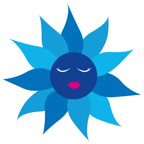 Flower Face SVG