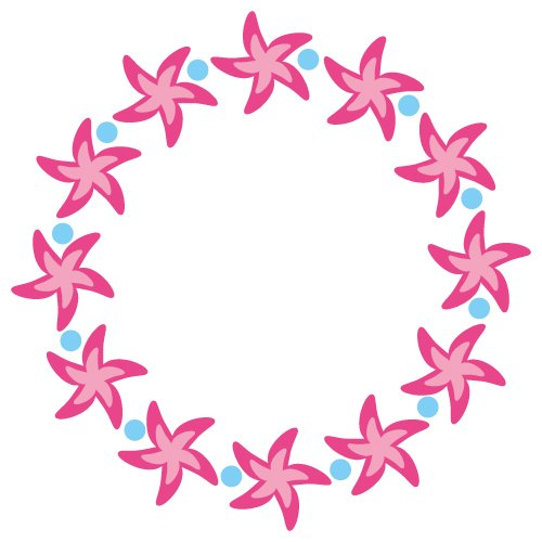 Download FREE Monogram Frame - Starfish, SVG EPS DXF and PNG