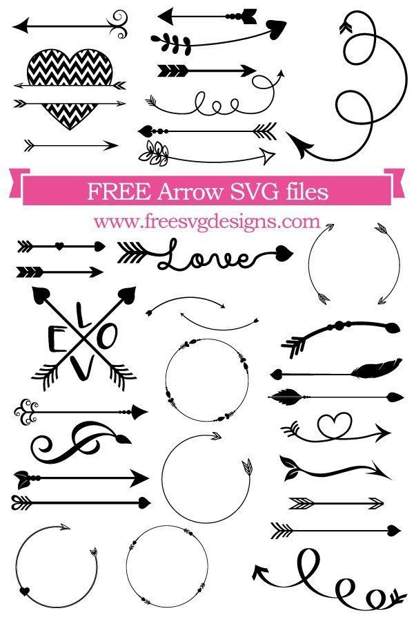 Free Arrow SVG cut file - FREE design downloads for your cutting