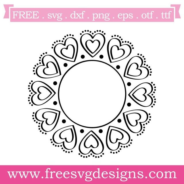 Free monogram frame cut files at www.freesvgdesigns.com. Our FREE downloads includes OTF, TTF, SVG, PNG and DXF files for personal cutting projects. Free vector / printable / free svg images for cricut #freesvg #svg #svgfile #cricut #silhouette