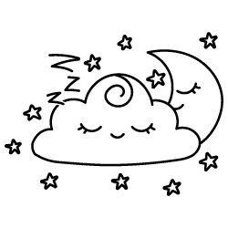 Cloud Moon SVG