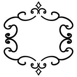 Doodle art border SVG