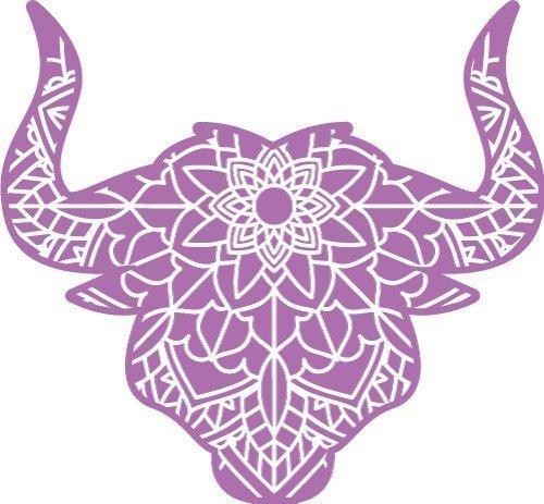 Free bull head SVG file