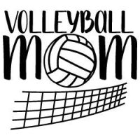 Volleyball Mom with net SVG