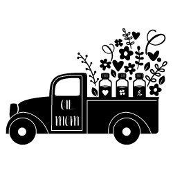 Pick Up Truck Oil Mom SVG