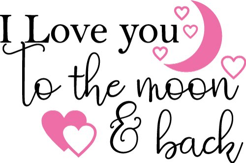 Download Free SVG Files | SVG, PNG, DXF, EPS | Love You To The Moon ...
