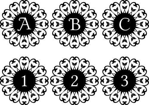 Leaf Love Monogram Free Font SVG