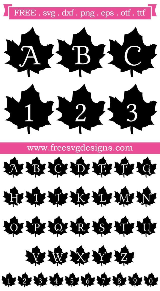 Fall Yall Monogram Font SVG