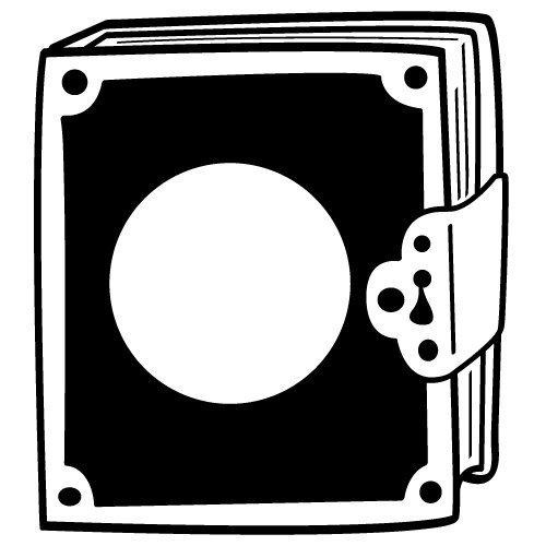 Locked Book Monogram Frame SVG