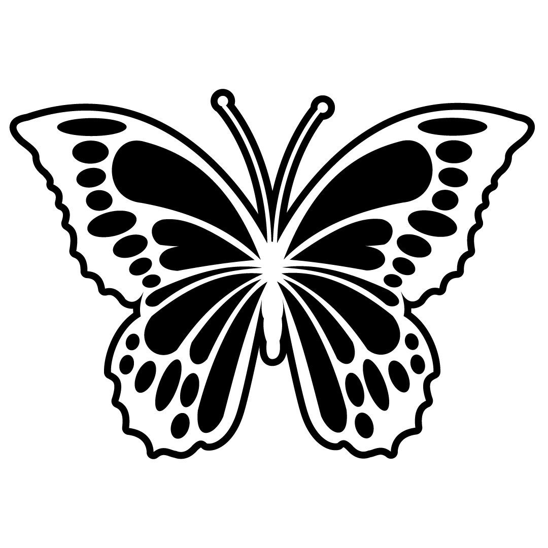 Download Free SVG Files | SVG, PNG, DXF, EPS | Butterfly Silhouette