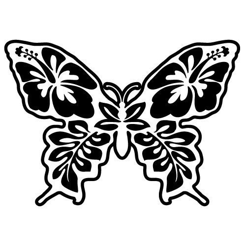 Floral Butterfly SVG