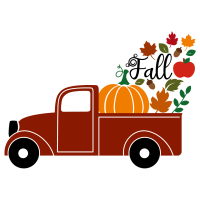 Quote Fall Pick Up Truck SVG