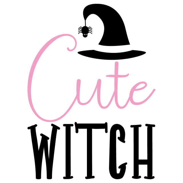 Quote Cute Witch SVG