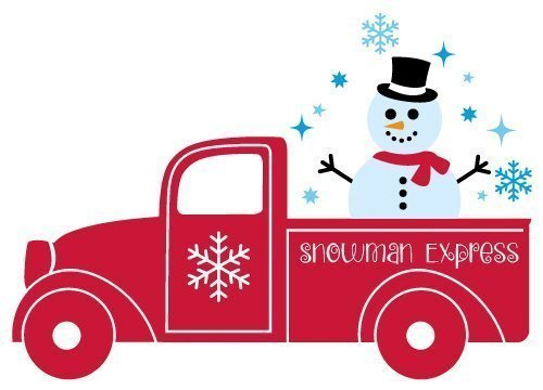 Christmas Truck Svg.Free Svg Files Svg Png Dxf Eps Snowman Express Pick