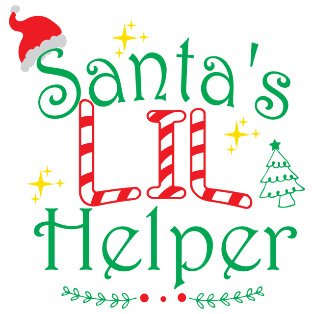 Quote Santa's Lil Helper SVG