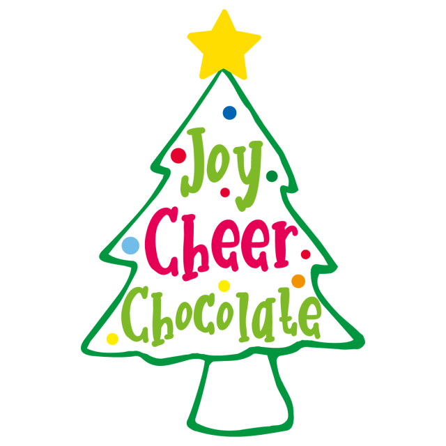 Quote Joy Cheer Chocolate Christmas Tree SVG