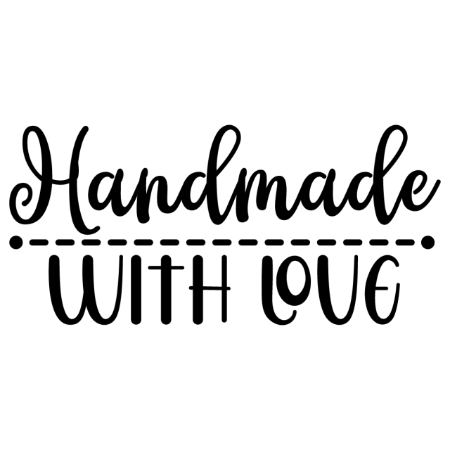 Quote Handmade With Love SVG