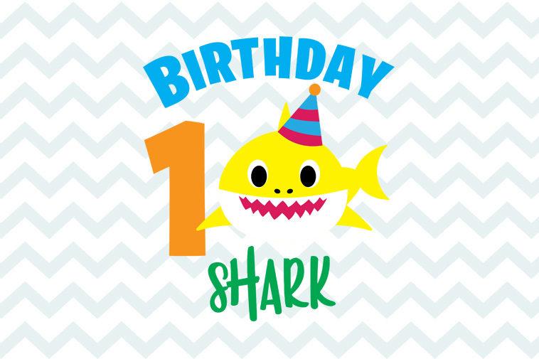 Shark 1st Birthday Svg Free Instant Download Shark Svg Baby Shark Free Svg Silhouette Shark First Birthday Svg Baby Shark Svg 0019 Freesvgplanet