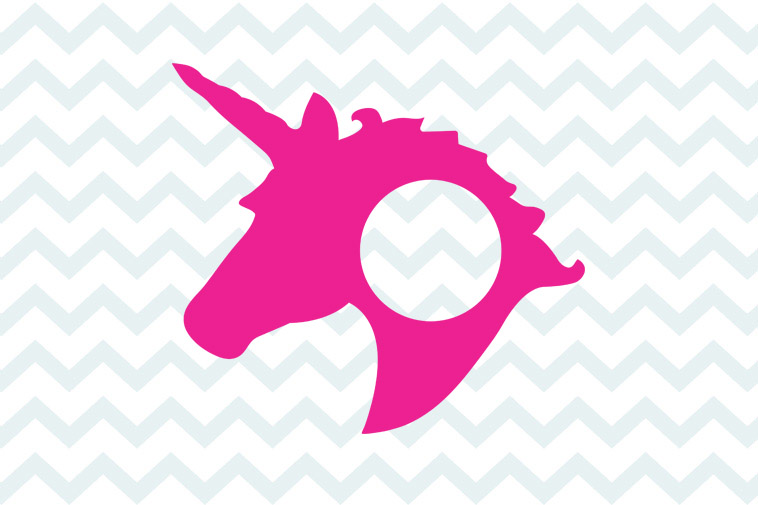 Download Unicorn monogram frame svg free, unicorn svg free ...