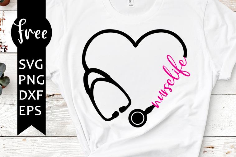 Download Heart stethoscope svg free, nurse svg, nurselife svg ...