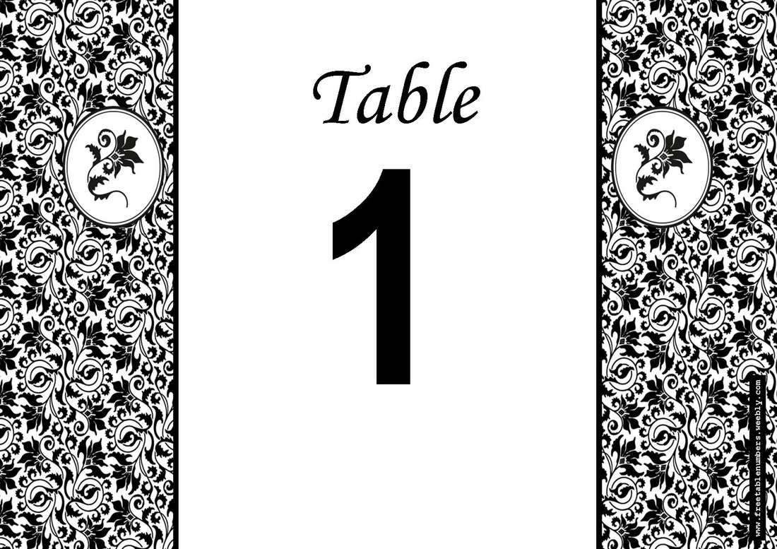Tent Style Table Numbers Diy