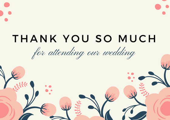 Thank You Message Wedding Gift: Lovely Thank You Card Wording